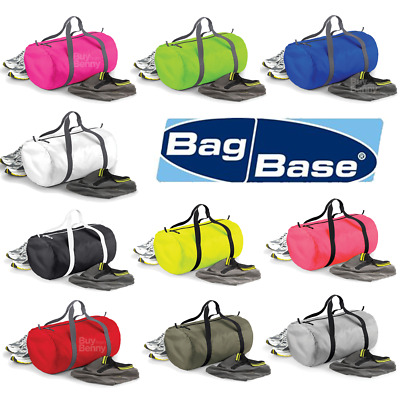Bagbase Super Light Gym Barrel Bag Sport Pe Football Foldable Durable 11 Colours
