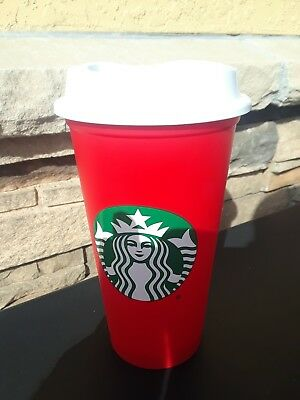 Starbucks Red Reusable 16 oz Grande Holiday Cup 2018 Limited Edition - Brand New