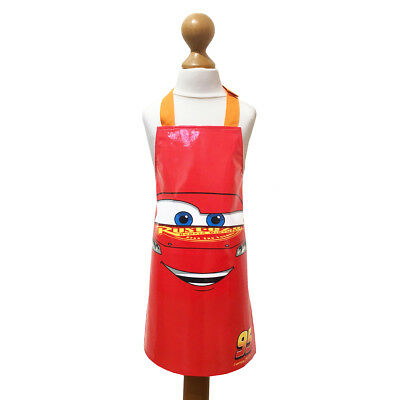 Disney Cars 3 Childrens Apron Cover Up Overall Painting Baking Playing Car Movie