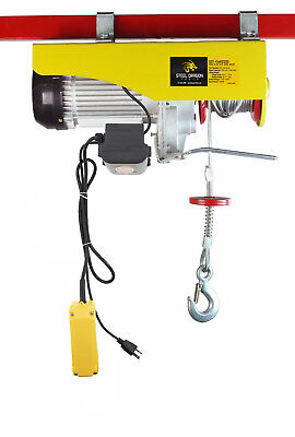Steel Dragon Tools® 2200 LBS Mini Electric Wire Cable Hoist Overhead Crane Lift