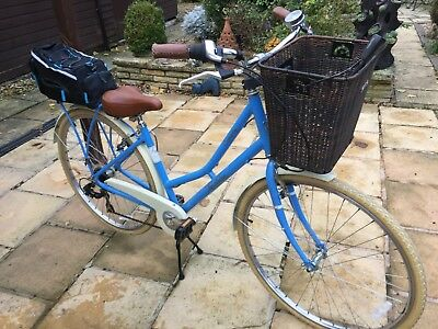 "+ Ladies ""pendeleton"" Bicycle + Blue With Decals + Very Good Condition +"