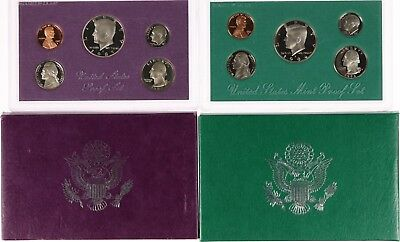 USA: 2 x Kursmünzensatz - 1987, 1994 - Proof Set (PP) - in OVP