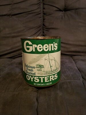Greens Brand Gallon Oyster Tin Can Shallotte NC