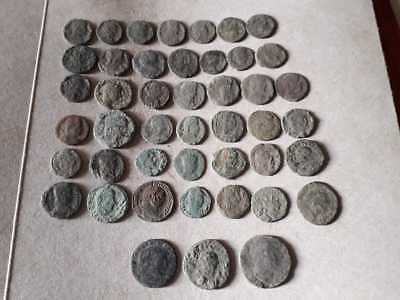 Beautiful Lot Of 45 Ancient Roman Bronze Coins For Cleaned