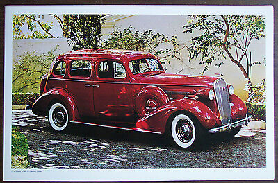 """Poster, 1936 Buick Model 61 Century Sedan, Suitable to Frame, 11""""x17"""", EX Cond"""
