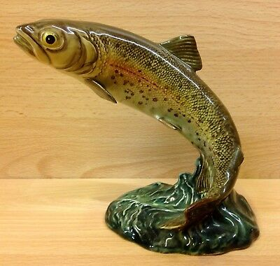 "Beswick ""Trout"" Leaping Fish Figurine No.1032"