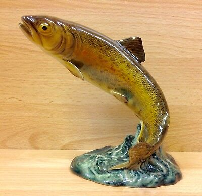 "Beswick ""Trout"" Leaping Fish Figurine No.1032."