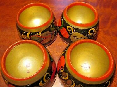 8 Pieces of Soviet Russian. USSR Handmade Hand-Painted Vases Cups and Jars.