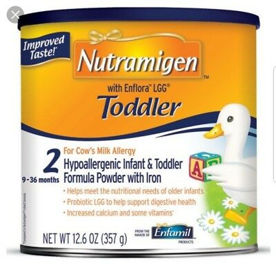 New Nutramigen Toddler with enflora lgg, 6  cans 12.6 Oz Powder New