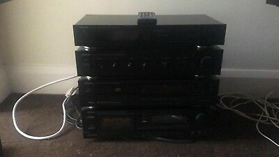 Denon stereo system with speakers