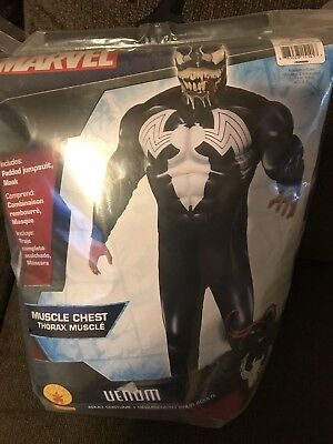 Deluxe Marvel Adult Size Venom Muscle Halloween Costume Standard/ Large NEW 2018