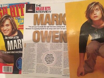 Mark Owen Smash hits magazine cover interview poster 90s Take That