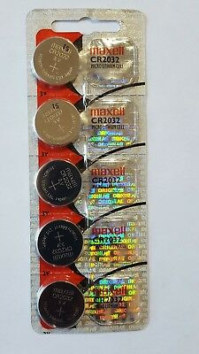 Maxell CR2032 3v Lithium Coin Battery (5 pieces)