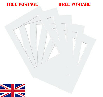 """White Photo/ Picture Mount 10 Pack 4x4""""-32x44"""" 10x10cm-50x100cm fit all Sizes"""