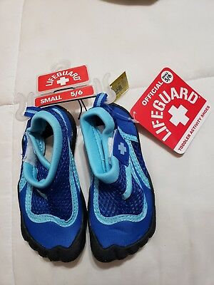 9f6e03f3d NEW Lifeguard Water Shoes Child Kids Boys Swimming Blue Size 5 6 Small