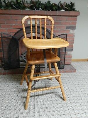 Vintage Jenny Lind Wooden Highchair High Chair