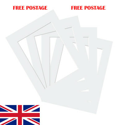 """Off White Photo/ Picture Mount 10 Pack 4x4""""-32x44"""" 10x10cm-50x100cm fit all Size"""
