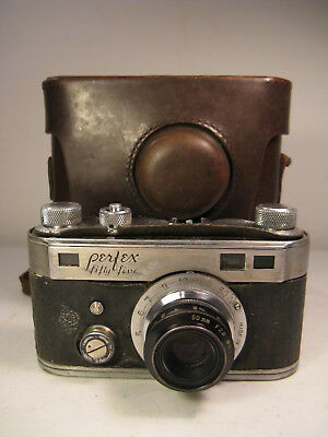 Perfex Fifty-Five 1940-47 Camera f2.8 Wollensak Velostigmat Lens (Parts, AS IS)