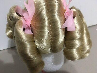 """NEW """" BECKY """" MONIQUE Excellent-Vintage-Doll Wig (10-11"""") BLONDE -FREE Ship US"""