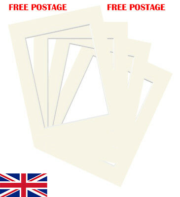 "Ivory Photo/ Picture Mount 10 Pack 4x4""-32x44"" 10x10cm-50x100cm fit all Sizes"