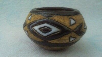 Inuit Pottery Miniature Bowl