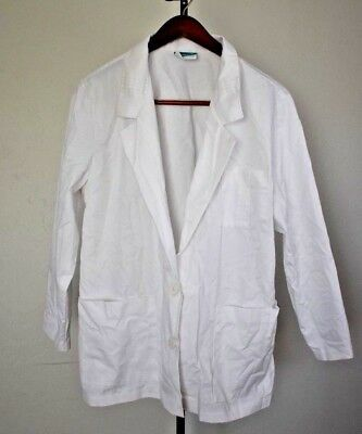 Crest Bright White short Lab Coat - Style 3141-01 Women's Size 18
