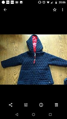 Jasper Conran Junior J Navy Girls Coat jacket 12-18 months Good Condition