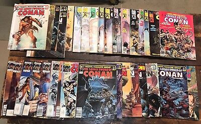 Lot of 34 The Savage Sword of CONAN Comic Magazines #2 to 126 Gd to F/VF Marvel