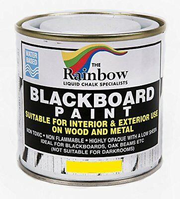 Chalkboard Blackboard Paint - 250ml Ideal To Use With Liquid Chalk And Dry Chalk