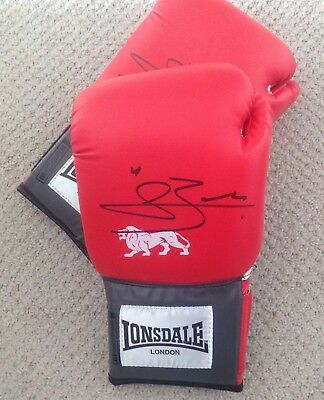 Conor Benn Hand Signed Red Lonsdale Glove. Proof. Coa. Guarantee..