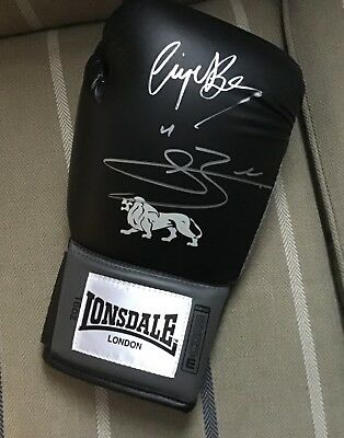 Nigel And Conor Benn Hand Signed Black Lonsdale Glove. Proof. Coa. Guarantee..