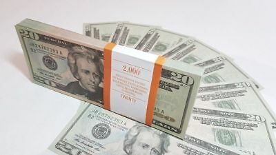 $20 DOLLARS SOUVENIR BILLS 1 pack for Prank, Games, Movies & Videos and Gift