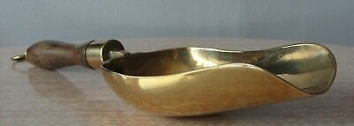 New Vintage Solid Brass & Wood Flour / Sweet Scoop With Hanging Ring •●