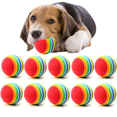 1/10Pcs Small Dog Pets Chew Ball Pet Puppies Tennis Balls Puppy Dogs Play Toy