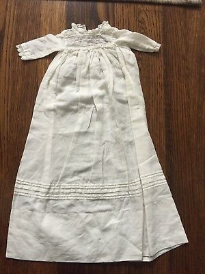 Antique Edwardian White Baby or Doll Cotton Lace Dress
