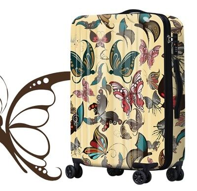 D208 Classical Style Universal Wheel ABS+PC Travel Suitcase Luggage 20 Inches W
