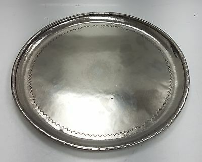 Hugh Wallis arts and crafts metal tray hallmarked HW #628