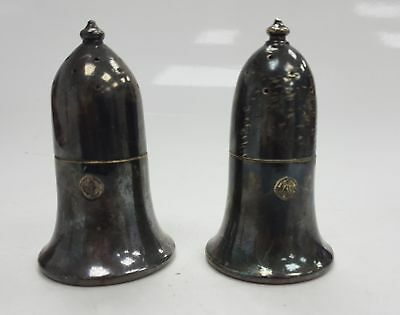 Pair of silver elkington plate salt and pepper pots stamped - 25662 #628