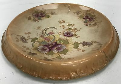 "Antique S.F. & Co England Royal Devon Floral Blush Rare 11"" Plate #890"