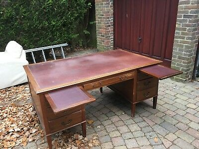Large Partners desk with vinyl top