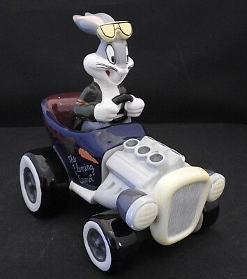 Vintage 90's Salt & Pepper Shakers The Flaming Carrot Bugs Bunny Racer Car