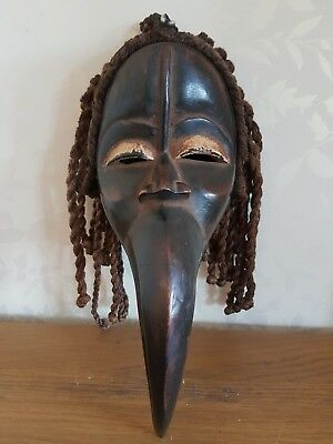 Genuinely old and used African Dan Maou wood mask. Fine example. Ivory Coast