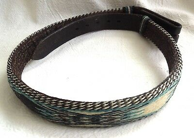 HITCHED HORSEHAIR BELT *Turquoise Blue/Green* Black*Cream* FREE SHIPPING*