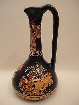 Chariot of Hippodamia Wife of Pirithous Ancient Greek Art Pottery Vase  Lagynos