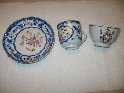 Antique Chinese Export Porcelain cup and saucer flower pattern
