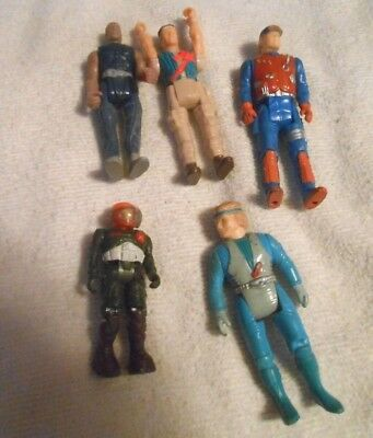 Vintage Lot Of 5 Action Figures Small 2-3 Inches Tall See Pics