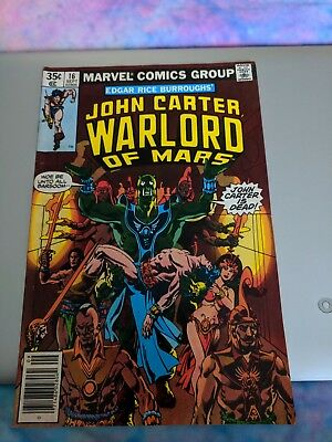John Carter Warlord Of Mars Comic Lot of 7 from 1970s #14 - #18, #20, & #22