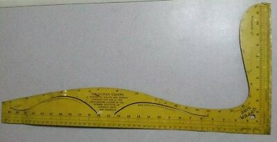 Original Edwardian (1916) Metal Picken Square Dressmaking Pattern Drafting Tool
