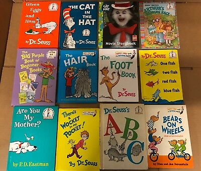 Lot of 20 Dr. Seuss I Can Read It Beginner Early Children Kids Read Books #N33