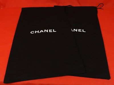 Set of 2 NEW CHANEL Dust Bags for Shoes,Boots or Clutch Purse 11.5 x 21.5